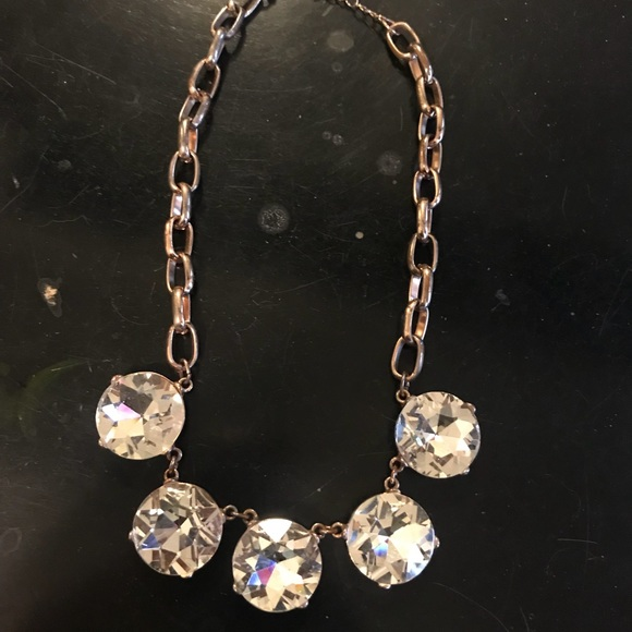 80 off Express Jewelry Express rose gold crystal necklace from